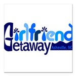 Girlfriend Getaway Asheville Square Car Magnet