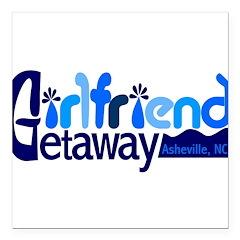 Girlfriend Getaway Asheville Square Car Magnet