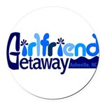 Girlfriend Getaway Asheville Round Car Magnet