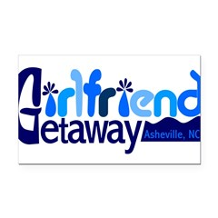 Girlfriend Getaway Asheville Rectangle Car Mag