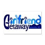 Girlfriend Getaway Asheville Car Magnet 20 x 1