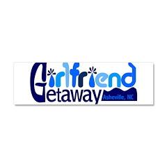 Girlfriend Getaway Asheville Car Magnet 10 x 3