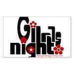girls night out Sticker (Rectangle 10 pk)