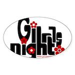 girls night out Sticker (Oval 10 pk)