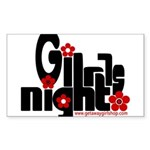 girls night out Sticker (Rectangle)
