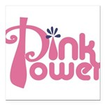 Pink Power Square Car Magnet 3