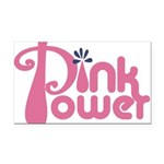 Pink Power Rectangle Car Magnet