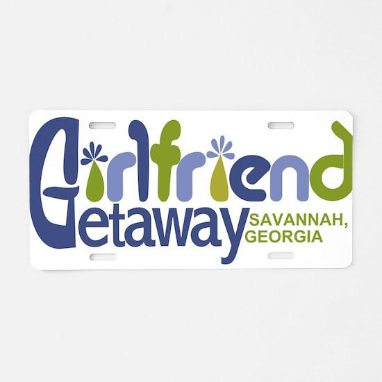 Girlfriend Getaway Savannah.png Aluminum License P