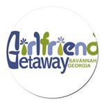 Girlfriend Getaway Savannah Round Car Magnet