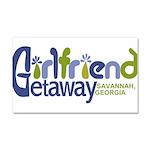 Girlfriend Getaway Savannah Car Magnet 20 x 12