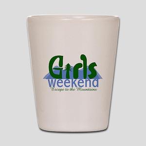 Mountain Girls Weekend Shot Glass