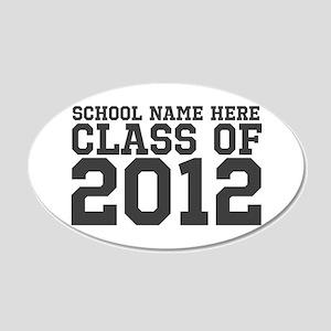 2012 Graduation 22x14 Oval Wall Peel