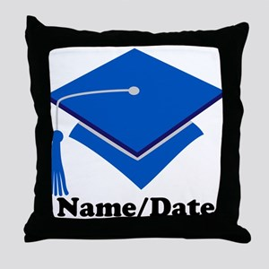 Personalized Blue Graduation Throw Pillow