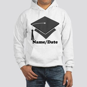 Personalized Gray Graduation Hooded Sweatshirt