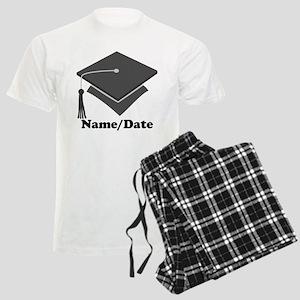 Personalized Gray Graduation Men's Light Pajamas