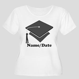 Personalized Gray Graduation Women's Plus Size Sco