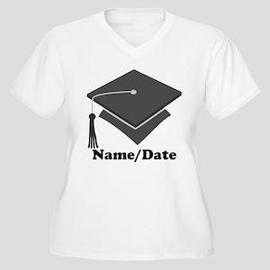Personalized Gray Graduation Women's Plus Size V-N