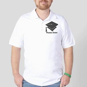 Personalized Gray Graduation Golf Shirt