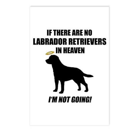 Black Labs In Heaven Postcards (Package of 8)