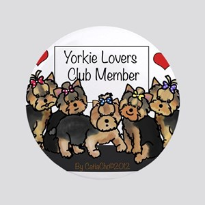 """Yorkie Lovers Club Member 3.5"""" Button"""