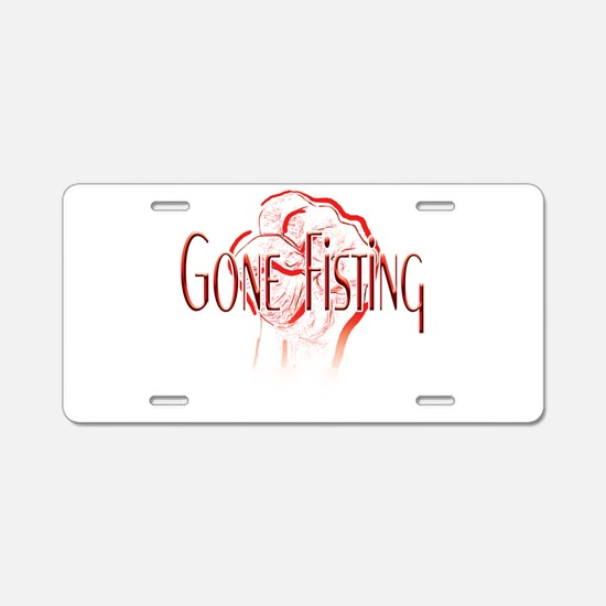 Gone-Fisting-white.png Aluminum License Plate