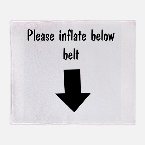please-inflate.png Throw Blanket