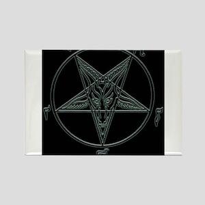 Baphomet-black-background Rectangle Magnet