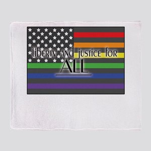Justice-for-all-white-t Throw Blanket