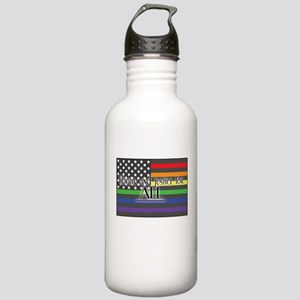 Justice-for-all-white-t Stainless Water Bottle
