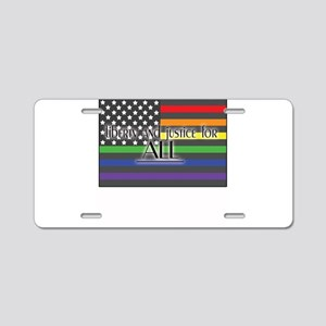 Justice-for-all-white-t Aluminum License Plate