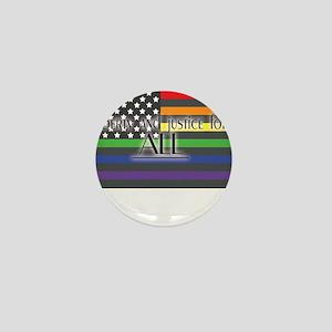 Justice-for-all-white-t Mini Button