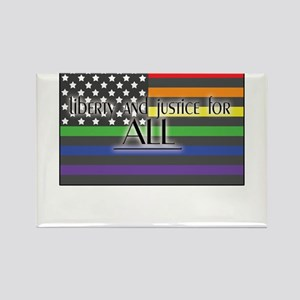 Justice-for-all-white-t Rectangle Magnet