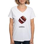 Drop the Monkeys Women's V-Neck T-Shirt