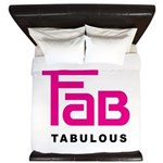 Fab Tabulous King Duvet
