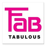 Fab Tabulous Square Car Magnet 3