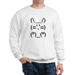 Hip Hop Text Bunny Sweatshirt
