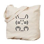Hip Hop Text Bunny Tote Bag