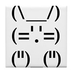 Hip Hop Text Bunny Tile Coaster