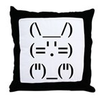 Hip Hop Text Bunny Throw Pillow