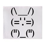 Hip Hop Text Bunny Throw Blanket