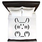 Hip Hop Text Bunny King Duvet