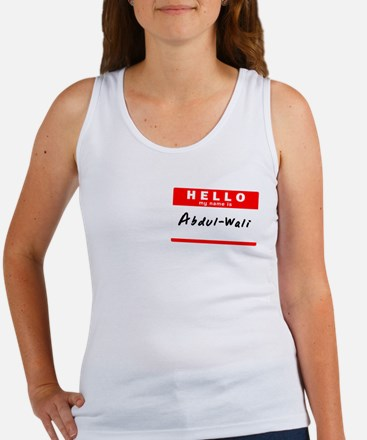 Abdul-Wali, Name Tag Sticker Women's Tank Top