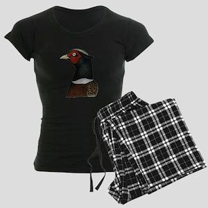 Ringneck Rooster Head Women's Dark Pajamas