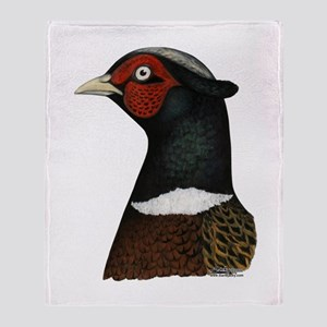 Ringneck Rooster Head Throw Blanket