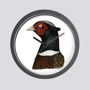 Ringneck Rooster Head Wall Clock