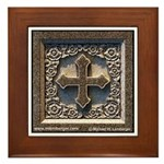Stone cross Framed Tile