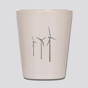 Wind Turbines Shot Glass