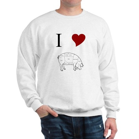 I Love Pig Sweatshirt