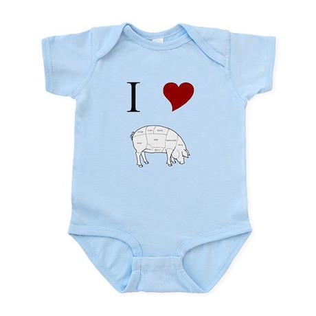 I Love Pig Infant Bodysuit