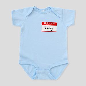 Emely, Name Tag Sticker Infant Bodysuit